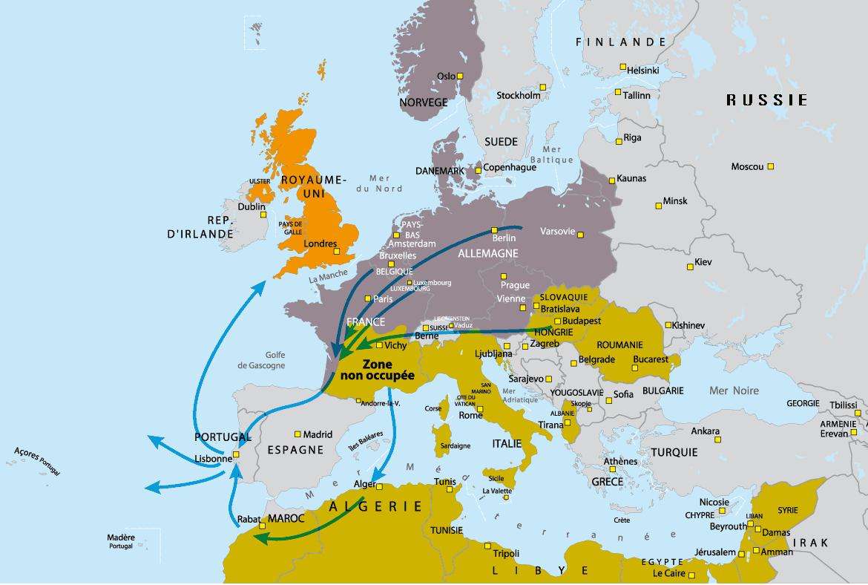carte europe 1940
